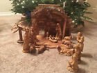 OLIVE WOOD NATIVITY SET Made in the Holy Land