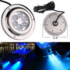 12V 316 STAINLESS MARINE BLUE UNDERWATER LIGHT BOAT 6 LED X 2W HIGH POWER BRIGHT