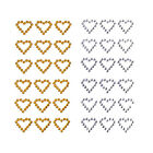 Hearts Rhinestone Stickers 1 2 Inch 60 Count