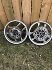 94-07 KAWASAKI NINJA 250R FRONT REAR WHEEL RIM SET STRAIGHT OEM #0134