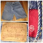 Vtg Levis 560 Red Tab Medium Blue Wash Mens Loose Fit Shorts Size 36