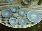 8 PIECES OF WEDGEWOOD QUEENS WARE ~ TRINKET BOXES, HEART SHAPED BOWLS