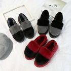 Women Fashion Winter Close-toes Indoor Flats Slides Plush Floor Loafers Shoes