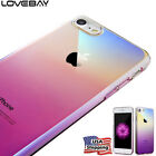 For iPhone X 8 7 6s 6 Plus Case Luxury Gradient Color Ultra Thin Hard Cover