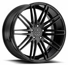 22 BLACQUE DIAMOND BD 2 GLOSS BLACK WHEELS FOR AUDI A7 S7