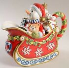 Fitz and Floyd 33 Oz Figurine Pitcher in Christmas Snowman Collection RARE!!