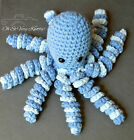 Handmade Amigurumi Preemie Buddy Baby Toy Crochet Stuffed 7 Octopus Blue