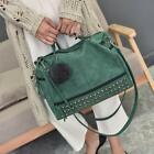 Women Leather Rivet Travel Handbag Punk Shoulder Crossbody Hobo Satchel Bag Tote