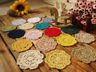 Lot of 12 Hand Crochet 4 Colorful Doilies Vintage Wedding Tea Party NEW