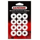 Janome Prewound Embroidery Machine Bobbins 12 per Card