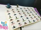 PP032 Small Yoga Life Planner Die cut Stickers for Erin Condren 42 pcs