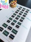 PP334 No School Reminder Planner Stickers for Erin Condren 34pcs