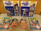 LOT 1990 Starting Lineup Dennis Eckersley Mark McGwire & Topps Heads Up pin ups