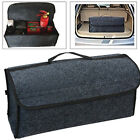 New Gray Felt Cloth For Car Auto Cargo Storage Organizer Bag Console Folding Bag