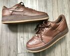 NIKE AIR FORCE 1 XXV PREMIUM LEATHER 82 COCOA BROWN MENS SIZE 105
