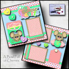 MY SQUEAK HEARTS 2 premade scrapbook pages Paper PRINTED VALENTINES DAY CHERRY