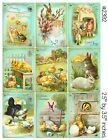 9 Victorian Vintage Easter Hang Tags Scrapbooking Paper Crafts 24