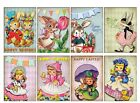 8 Vintage Easter Hang Tags Scrapbooking Paper Crafts 158
