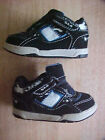 CIRCO Boys Toddlers Size 5 SK8 Sneakers Casual Shoes Solid Black Velcro Fasten