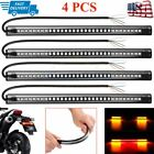 Motorcycle 48LED Integrated Tail Brake Turn Signal Running Light Strips Flexible