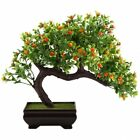 GTidea Fake Potted Plants Artificial Bonsai Plastic Pine Tree Home Office Zen