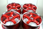 17 red Wheels Rims RSX Civic Accord Soul Mazda 3 5 6 Camry Protege 5x100 5x1143