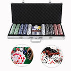 Pro Poker Chips Set 500 w Clay Aluminum Carry CaseCardTexas Holdem PokerDices