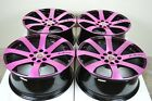 17 pink Wheels Rims Cobalt Civic Accord Corolla Cooper Spectra Ion 4x100 4x1143