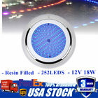Stainess Resin Filled LED Swimming Pool Spa Lights 18W RGB 12V Underwater Lamp