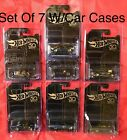 Hot Wheels 50th Anniversary Black  Gold Set Of 7 W Chase Camaro  In Protectors