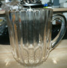 Vintage Jeanette Glass Tea Beer Pitcher National pattern Ice lip