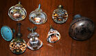 LOT OF VARIOUS VINTAGE GLASS DRAWER PULLS AND A VINTAGE DOOR KNOB