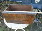 Vintage Atlas Powder High Explosives Dovetailed Primitive Wooden Box  17 1/2x12