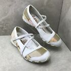 Skechers Bikers Flirt Patchwork Mary Jane Sneakers Flats Womens Sz 9 White Taupe