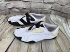 Puma Mostro Perf Leather Mens White Black Velcro Strap Sneakers Shoes 9 FLAW C1