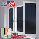 Frosted Film Black Glass Home Bathroom Window Security Privacy Sticker Sheet