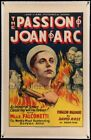 The Passion of Joan of Arc 33 Dreyer Masterpiece w Falconetti Linen RARE