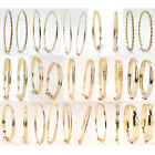 Wholesale Lot 10 30 50100 Pairs New Assorted Gold or Silver Hoop Earrings