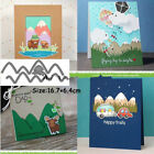 Stitched Mountain Borders Lawn Fawn Cuts Steel Craft Dies Embossing Cutting Card