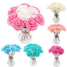 10 Head Bunch 8cm Artificial PE Rose Flower Wedding Bride Bouquet DIY Home Decor