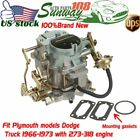 273 318 Engine Carburetor Replacement Fit 1966 1973 1967 1968 72 Dodge Plymouth