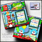 GREEN EGGS  HAM 2 Premade Scrapbook Pages Paper Printed DR SEUSS layout CHERRY