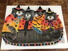 FITZ & FLOYD~CATS! ~KITTY WITCHES~LARGE HALLOWEEN SERVING PLATTER~NEW IN BOX