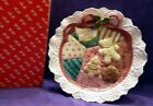 NIB 1993 Fitz & Floyd Christmas Quilt Cookies for Santa Plate MINT 19/889
