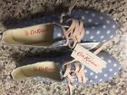 Cath Kidston Espadrille Little spot sz 38 Euro sz 75 US New w tags blue keds