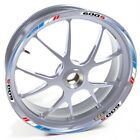 USEN Sticker wheel Rim Honda silver CBF 600 S 600S 600-S Blue Red strip tape vin