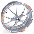 USEN Sticker wheel Rim Derbi silver Senda XRace 50 SM 50SM Red White strip tape
