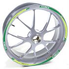 USEN Sticker wheel Rim Benelli silver TRE 1130 K 1130K 1130-K Green strip tape v