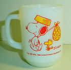 Snoopy Come Home Fire King Milkglass Coffee Mug Cup D Handle 1960's Schulz
