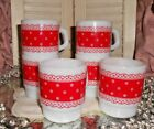 WHITE POLKA DOT LACE MUGS CUPS VALENTINE